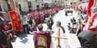 Jura de Santa Gadea y Marcha hacia el destierro en Plaza de Santa María, Burgos