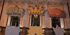 Recepcion de sus emisarios reales y sus pajes en Teatro Principal, Burgos